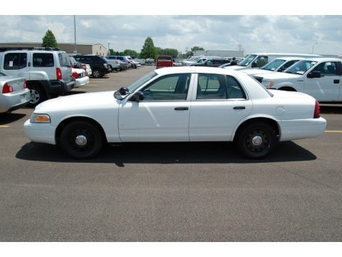 Vibrant White 2006 Ford Crown Victoria Police Interceptor