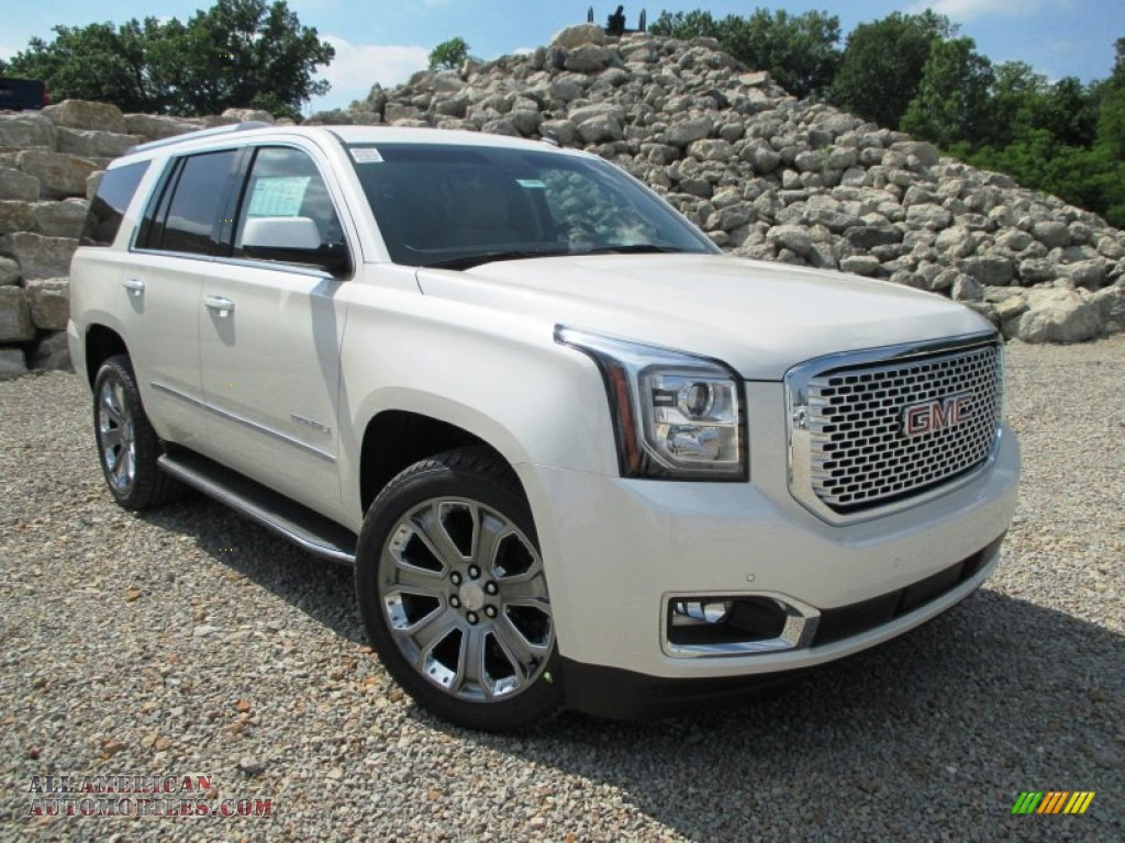2015 Yukon Denali White Diamond Cocoa Shale Autos Post