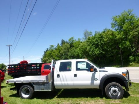 Oxford White 2015 Ford F550 Super Duty XL Crew Cab 4x4 Chassis