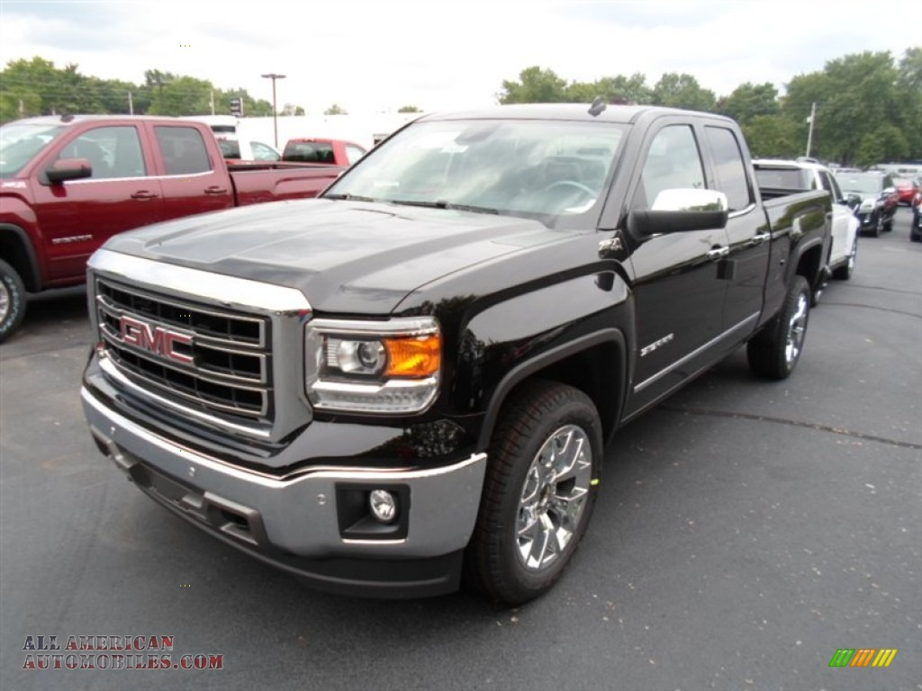 2014 gmc sierra 1500 slt double cab 4x4 in onyx black 347876 all american automobiles buy. Black Bedroom Furniture Sets. Home Design Ideas