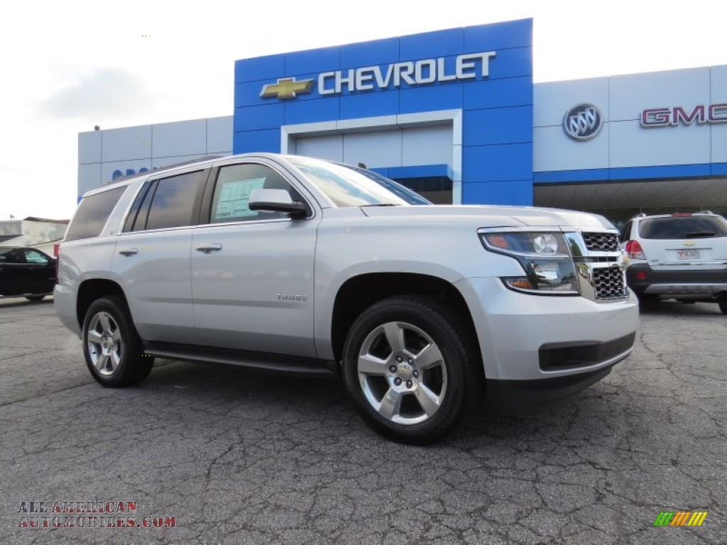 2015 chevrolet tahoe lt in silver ice metallic 184332 all american automobiles buy. Black Bedroom Furniture Sets. Home Design Ideas