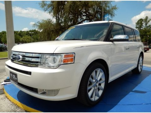 White Platinum Metallic Tri-Coat 2011 Ford Flex Limited
