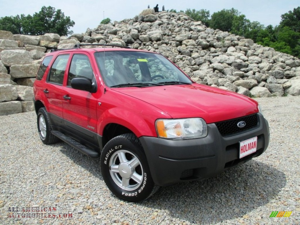 2001 Ford Escape XLS V6 4WD in Bright Red Metallic ...