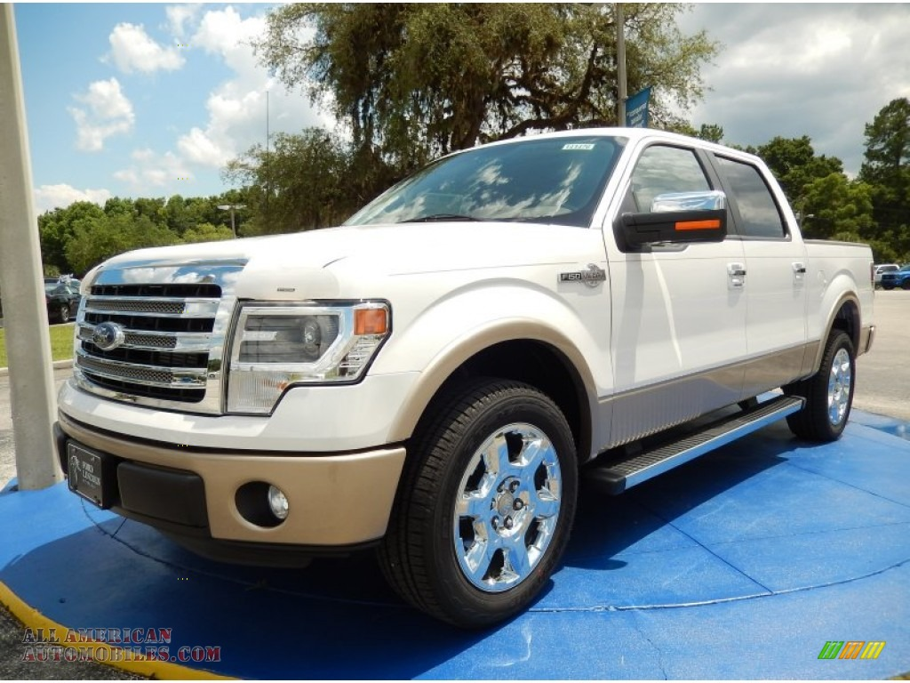 2014 ford f150 king ranch supercrew in white platinum. Black Bedroom Furniture Sets. Home Design Ideas