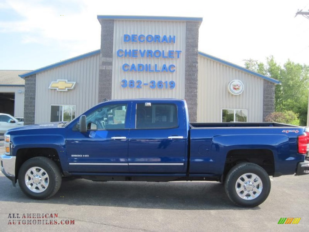2015 chevrolet silverado 2500hd ltz crew cab 4x4 in blue topaz metallic 132526 all american. Black Bedroom Furniture Sets. Home Design Ideas