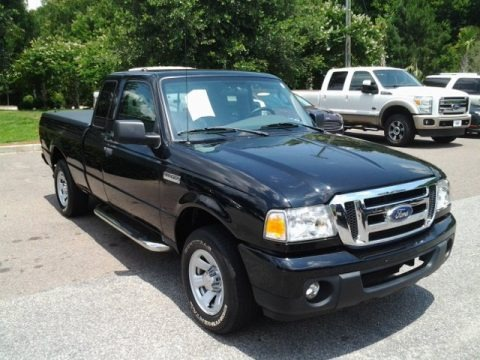 Black 2010 Ford Ranger XLT SuperCab