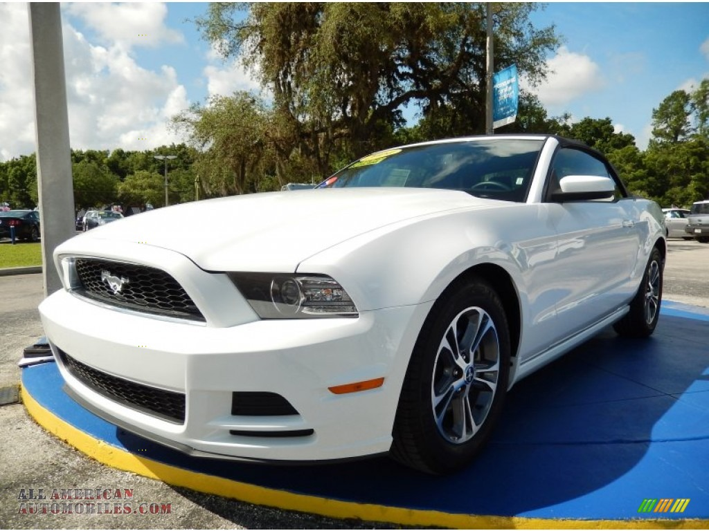 2014 ford mustang v6 premium convertible in oxford white 243050 all american automobiles. Black Bedroom Furniture Sets. Home Design Ideas