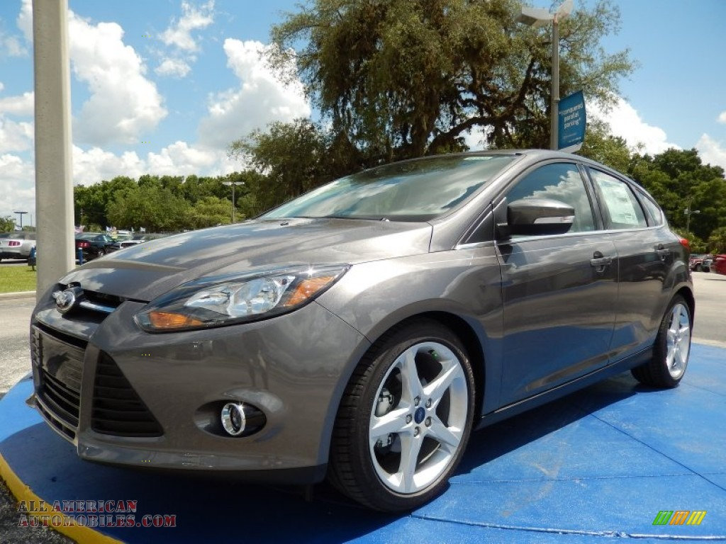 2014 ford focus titanium hatchback in sterling gray 329664 all american automobiles buy. Black Bedroom Furniture Sets. Home Design Ideas