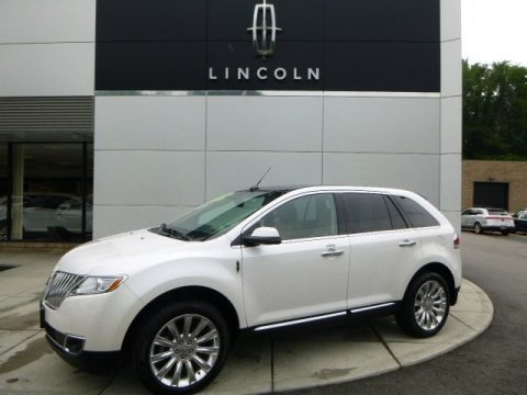 White Platinum Tri-Coat 2013 Lincoln MKX AWD