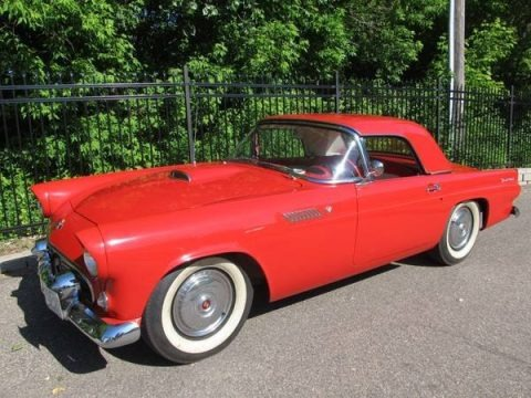 Torch Red 1955 Ford Thunderbird Convertible