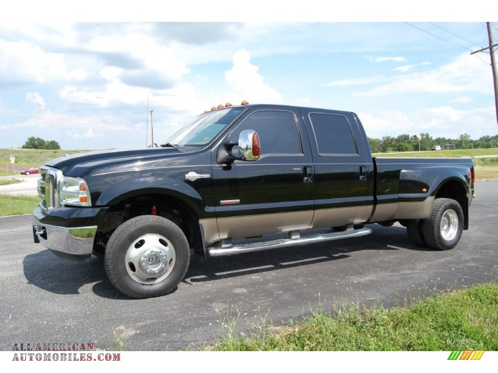 2006 ford f350 super duty king ranch crew cab 4x4 dually in black c42116 all american. Black Bedroom Furniture Sets. Home Design Ideas