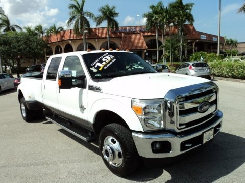 Oxford White 2014 Ford F350 Super Duty XLT Crew Cab 4x4 Dually
