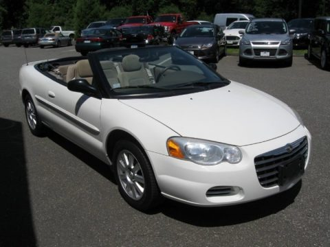Stone White 2004 Chrysler Sebring GTC Convertible