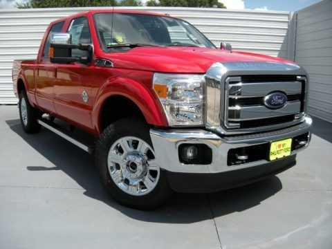 Vermillion Red 2015 Ford F250 Super Duty Lariat Crew Cab 4x4