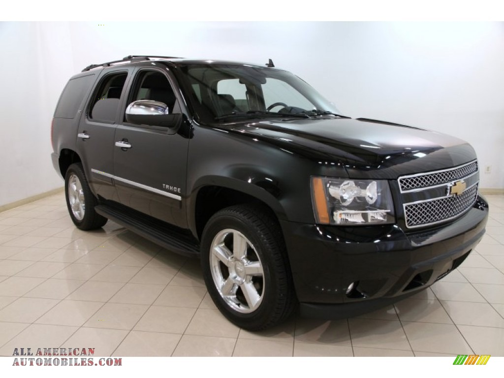2013 chevrolet tahoe ltz 4x4 in black 332028 all american automobiles buy american cars. Black Bedroom Furniture Sets. Home Design Ideas