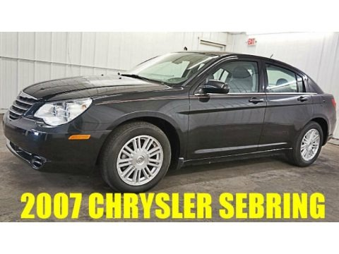 Brilliant Black Crystal Pearl 2007 Chrysler Sebring Touring Sedan
