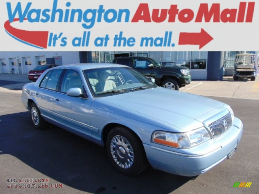2003 mercury grand marquis gs in light ice blue metallic 659241 all american automobiles. Black Bedroom Furniture Sets. Home Design Ideas