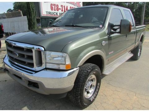 Estate Green Metallic 2003 Ford F350 Super Duty Lariat Crew Cab 4x4