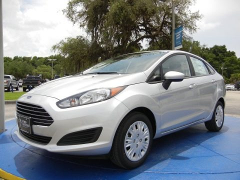 Ingot Silver Metallic 2015 Ford Fiesta S Sedan