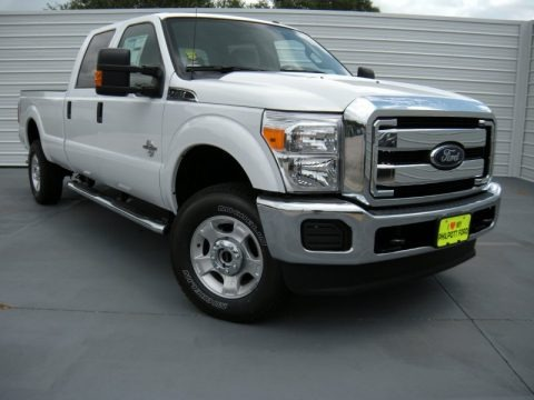 Oxford White 2015 Ford F350 Super Duty XLT Crew Cab 4x4