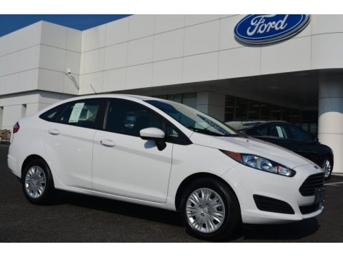 Oxford White 2015 Ford Fiesta S Sedan