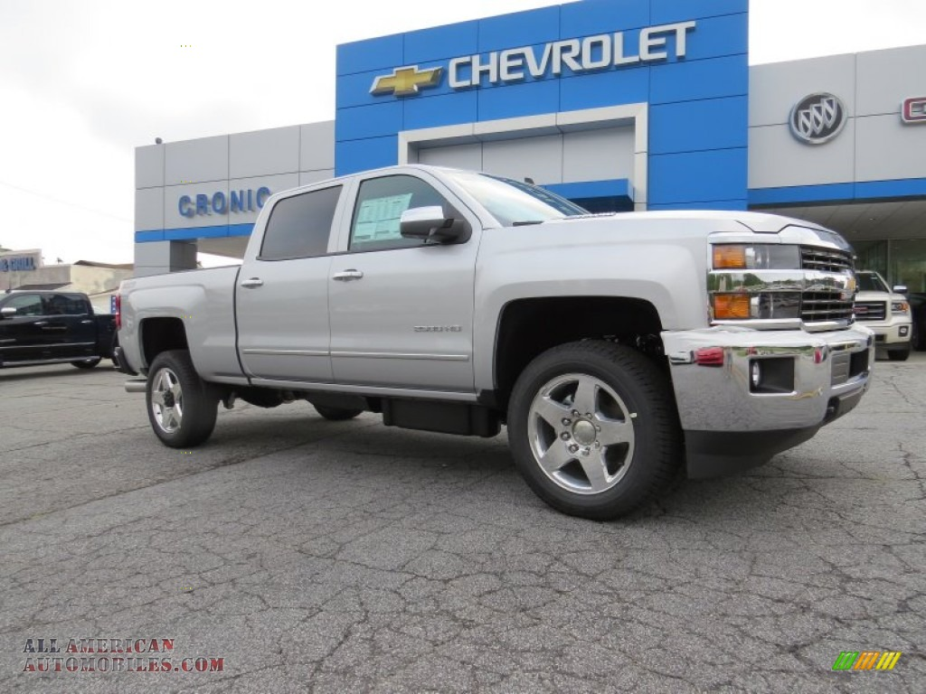 2015 chevrolet silverado 2500hd ltz crew cab 4x4 in silver ice metallic 168037 all american. Black Bedroom Furniture Sets. Home Design Ideas