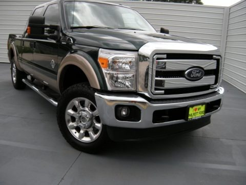 Green Gem Metallic 2012 Ford F250 Super Duty Lariat Crew Cab 4x4