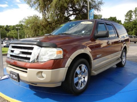 Dark Copper Metallic 2007 Ford Expedition EL Eddie Bauer