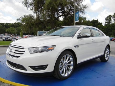 White Platinum Metallic 2015 Ford Taurus Limited