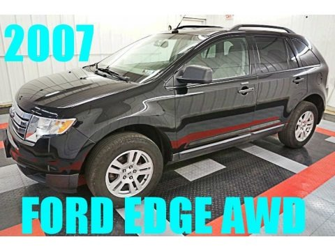 Black 2007 Ford Edge SE AWD