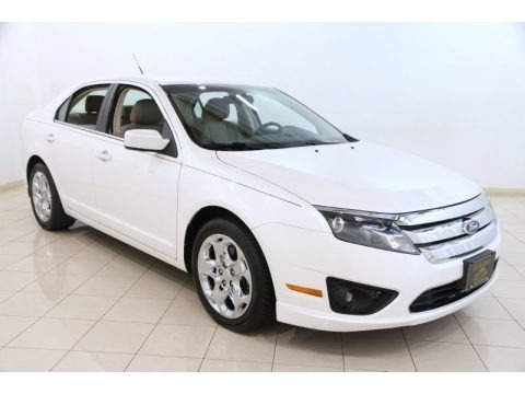 White Platinum Tri-Coat 2011 Ford Fusion SE