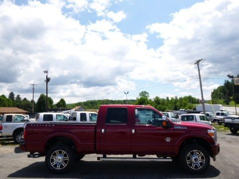 Ruby Red 2015 Ford F250 Super Duty Platinum Crew Cab 4x4