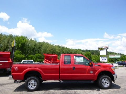 Vermillion Red 2015 Ford F250 Super Duty XL Super Cab 4x4