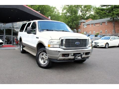 Oxford White 2002 Ford Excursion Limited 4x4