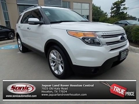 White Platinum Tri-Coat 2012 Ford Explorer Limited