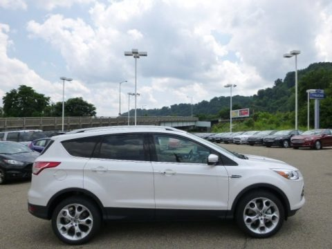 White Platinum 2014 Ford Escape Titanium 2.0L EcoBoost 4WD