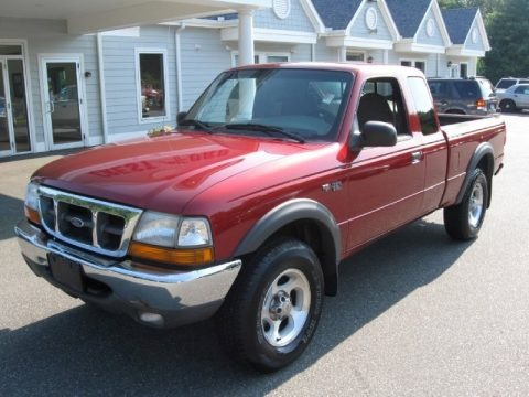 Toreador Red Metallic 2000 Ford Ranger XLT SuperCab 4x4