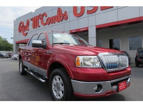 Vivid Red Metallic 2007 Lincoln Mark LT SuperCrew 4x4