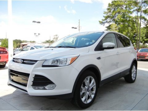 White Platinum Metallic Tri-Coat 2013 Ford Escape SEL 2.0L EcoBoost