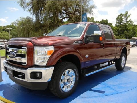 Bronze Fire 2015 Ford F350 Super Duty Lariat Crew Cab 4x4