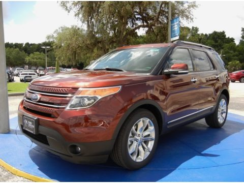Bronze Fire 2015 Ford Explorer Limited