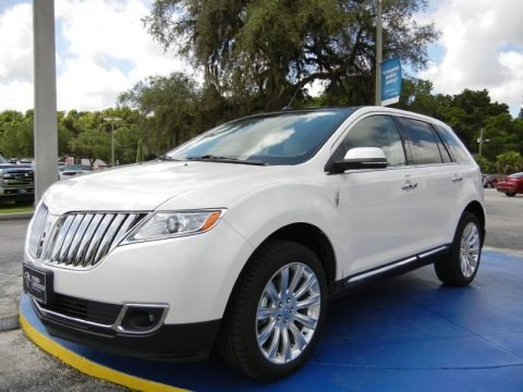 White Platinum Metallic Tri-Coat 2014 Lincoln MKX FWD