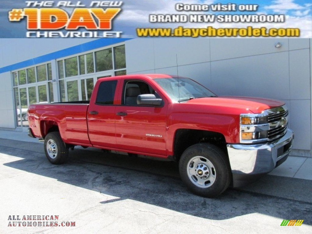 2015 chevrolet silverado 2500hd wt double cab 4x4 in victory red 134462 all american. Black Bedroom Furniture Sets. Home Design Ideas
