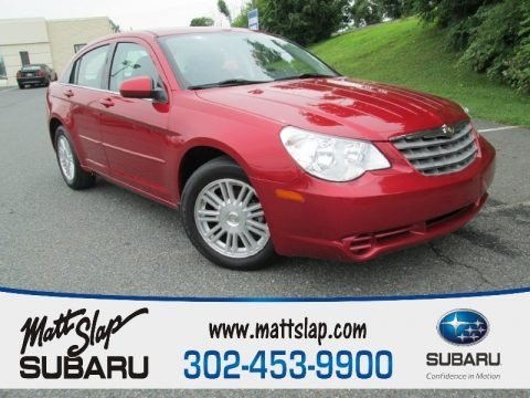 Inferno Red Crystal Pearl 2007 Chrysler Sebring Touring Sedan