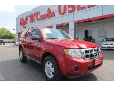 Redfire Metallic 2008 Ford Escape XLS
