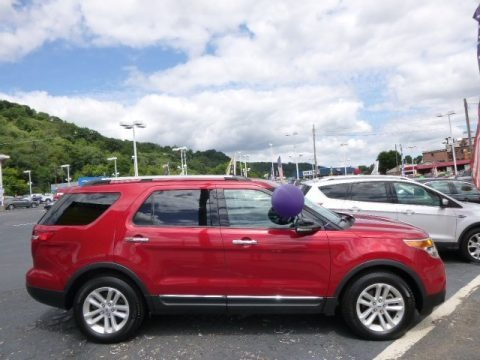 Red Candy Metallic 2012 Ford Explorer XLT