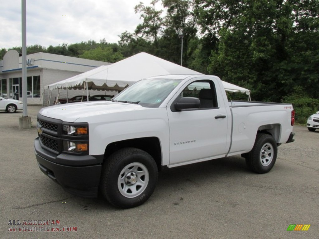 2014 chevrolet silverado 1500 wt regular cab 4x4 in summit white 384344 all american. Black Bedroom Furniture Sets. Home Design Ideas