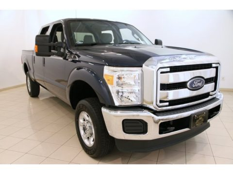 Blue Jeans Metallic 2014 Ford F250 Super Duty XLT Crew Cab 4x4