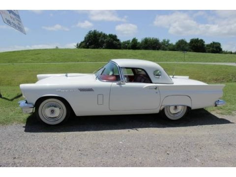 Colonial White 1957 Ford Thunderbird Convertible