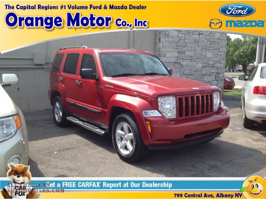 2009 jeep liberty sport 4x4 in inferno red crystal pearl for Orange motors albany new york